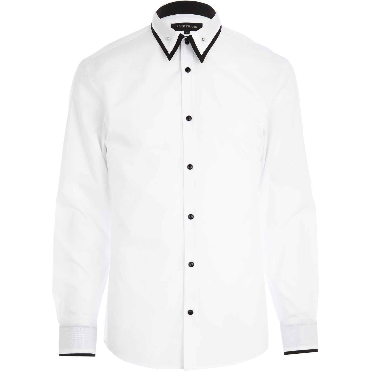 Black Collar White Shirt | Artee Shirt