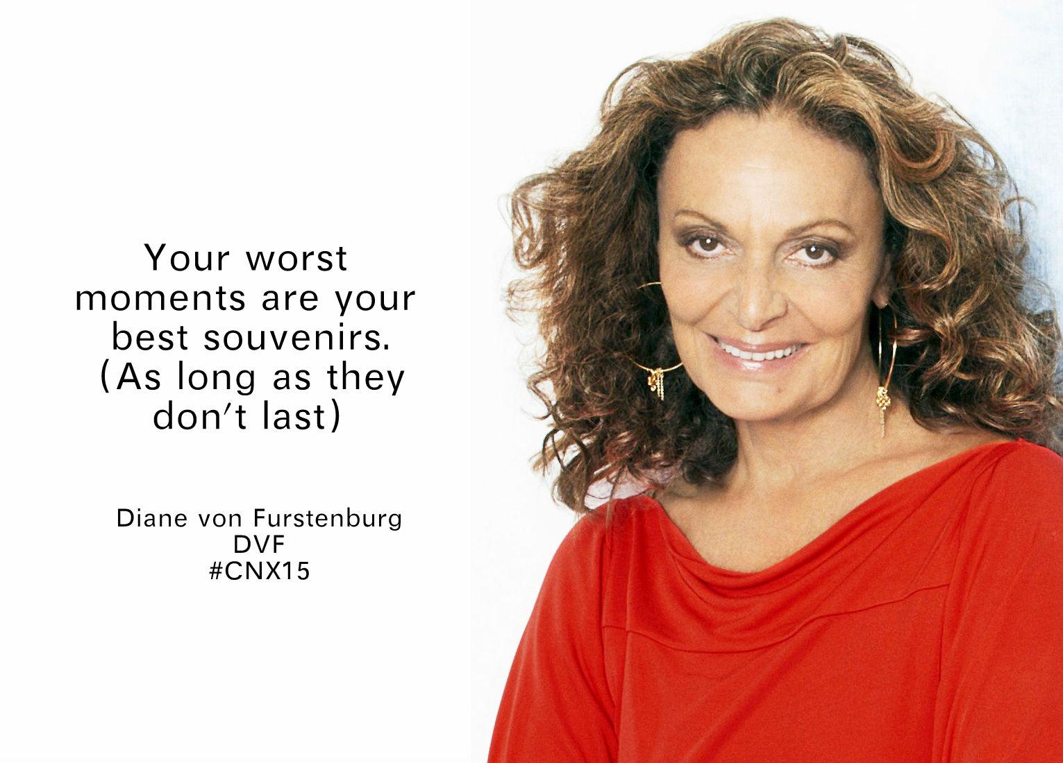 Diane von Furstenberg DVF salesforce cnx15 @sssourabh