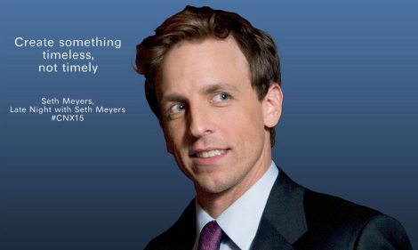 seth  meyers salesforce cnx15 @sssourabh