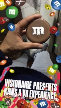 virtual reality m&ms visionaireworld VISKAWSVR kaws new york public library nyc nypl @sssourabh
